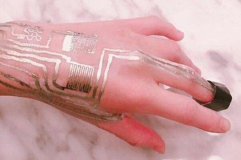 چاپ حسگر روی پوست بدون نیاز به گرمادهی