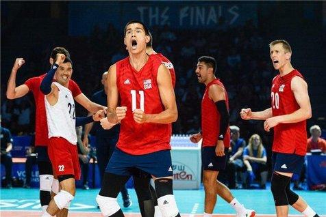 برد آمریکا مقابل تیم ملی والیبال فرانسه