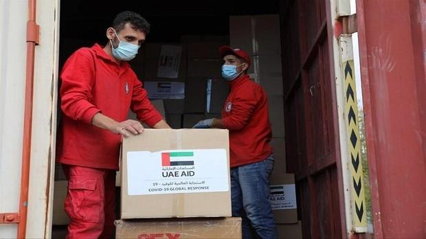 محموله جدید کمک های امارات متحده عربی به دمشق رسید+عکس
