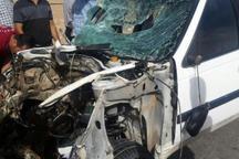 انحراف به چپ خودرو، جان 2 نفر را در شیراز گرفت