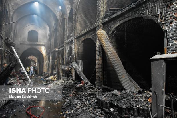 خسارت 5 میلیارد ریالی حادثه آتشسوزی به شبکه برق بازار تبریز