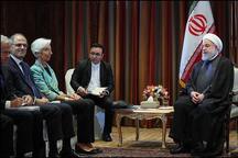 رئیسجمهور روحانی: ایران علاقهمند به گسترش روابط خود با نهادهای پولی جهان بویژه صندوق بینالمللی پول است/ مسوولیت اصلی صندوق، حمایت از اعضایش در برابر تحریمهای بانکی و پولی است