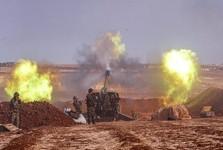 بمباران شدید مواضع تروریست ها در ادلب و انفجارهای مهیب در الرقه