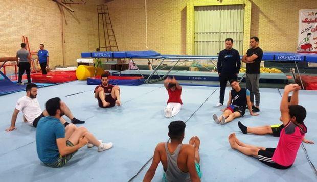 اردوی تیم ملی ترامپولین مردان در یزد پایان یافت