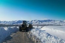 250 کیلومتر از راه های روستایی شیروان برفروبی شد