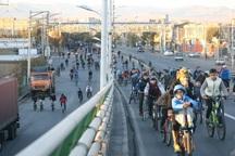 همایش مشترک دوچرخه سواری و پیاده روی در میاندوآب برگزار شد