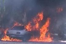 آتش سوزی در پارکینگ یک ساختمان مسکونی در تهران 4 خودرو در آتش سوختند