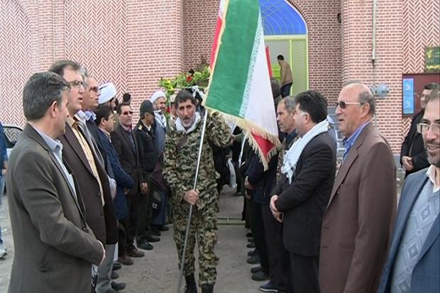 بسیجیان استان اردبیل عازم مناطق عملیاتی کشور شدند