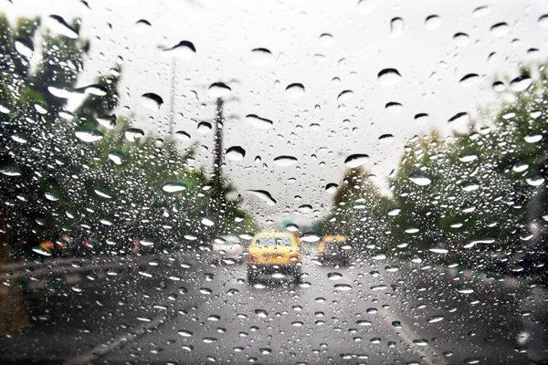 بارش باران در تهران، هم اکنون