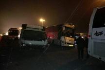 15 کشته و مصدوم در تصادف زنجیرهای در اتوبان کرج- قزوین