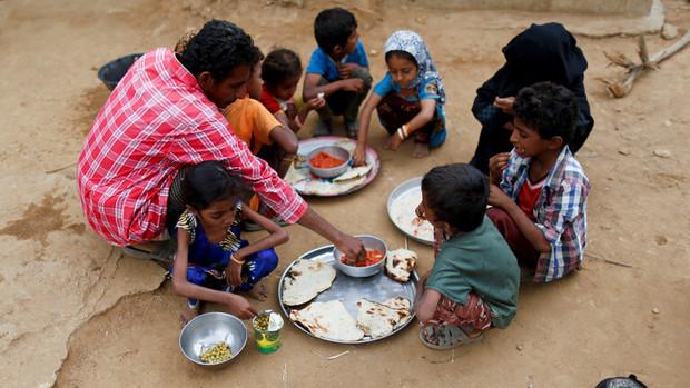 70 درصد از مردم یمن در معرض خطر گرسنگی قرار دارند