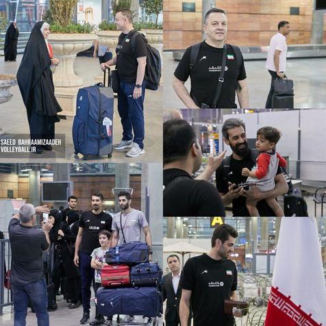 بازگشت تیم ملی والیبال به ایران+ عکس