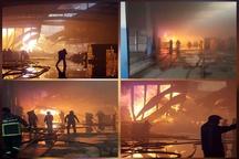 5 مصدوم و فوتی بر اثر آتشسوزی در شرکت تولیدکننده چسب البرز   اطفای حریق ادامه دارد+فیلم