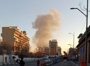 آتش سوزی در خیابان شوش تهران + عکس و فیلم
