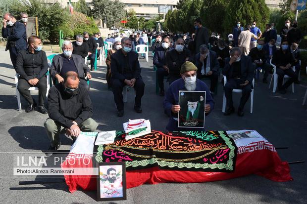 تصاویر/ مراسم وداع با پیکر سردار شهید خدادی