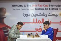 پایان دور هفتم مسابقات شطرنج جام فجر با مهره چینی استادان بزرگ ایران