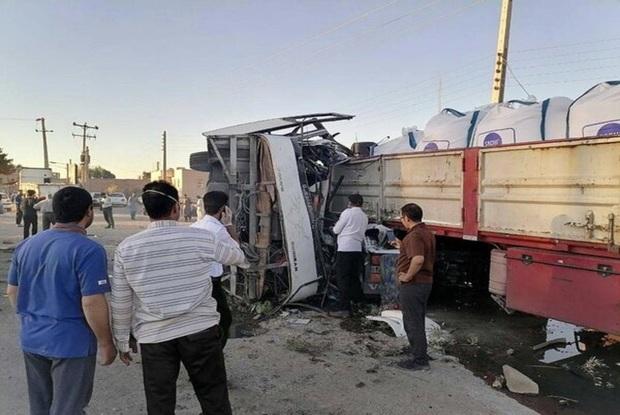 آخرین وضعیت سرباز معلمان آسیب دیده در تصادف اتوبوس در یزد