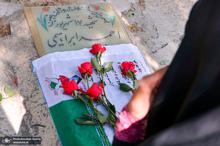 مراسم ادای احترام به مقام شامخ شهدای 17 شهریور در بهشت زهرا(س)