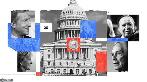 میلیاردرها در انتخابات آمریکا چقدر خرج کردند؟+ آمار و تصاویر