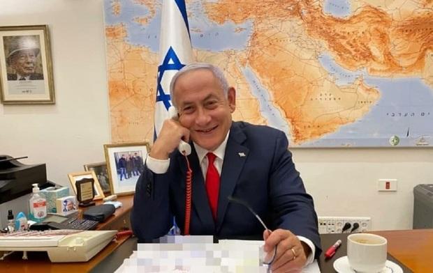 نتانیاهو بالاخره به آرزوی گفت و گو با بایدن رسید + عکس