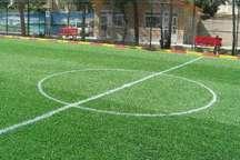 زمین چمن مینی فوتبال تامین اجتماعی بوشهر به بهره برداری رسید