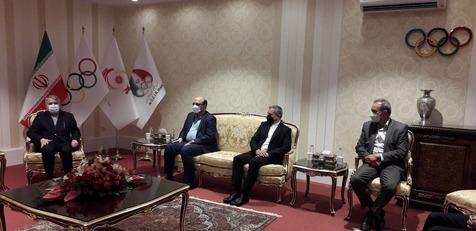 جلسه رئیس کمیته المپیک افغانستان با مقامات ایرانی+ تصاویر