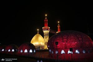 حرم امام حسین(ع) و حضرت عباس(س) در شب اربعین