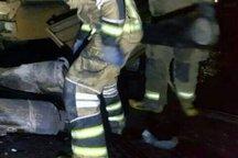 آتش سوزی کپسول گاز در قزوین یک مصدوم به جا گذاشت