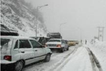 بارش برف وباران سبب لغزندگی راه های البرز شده است