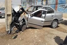برخورد خودرو به تیر چراغ برق در آزادراه قزوین-رشت جان یک نفر را گرفت