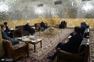 دیدار سرپرست موسسه تنظیم و نشر آثار امام خمینی(س) با تولیت آستان قدس رضوی / مروی - کمساری