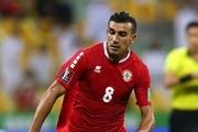 غیبت بازیکن کلیدی لبنان مقابل ایران