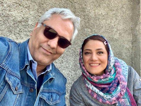 سلفی مهران مدیری با شبنم مقدمی در پشت صحنه «هیولا»+ عکس