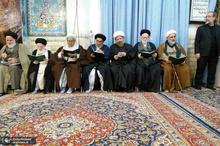 حضور آیت الله صانعی در مراسم چهلمین روز درگذشت همشیره آیت الله شبیری زنجانی + تصاویر