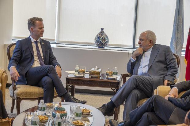وزیر امور خارجه دانمارک به دیدار ظریف رفت