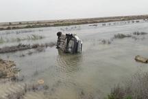 واژگونی خودرو در جاده آبادان - ماهشهر 2 کشته و 2 مصدوم داشت