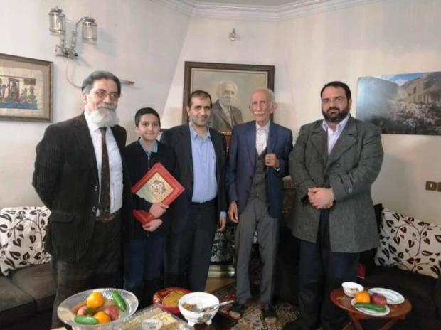 معاون شهردار تهران با پدر خوشنویسی معاصر ایران دیدار کرد