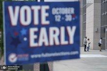 آغاز رای گیری زودهنگام انتخابات ریاست جمهوری آمریکا+ تصاویر