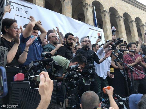 عکس/ درگیری در ساختمان پارلمان گرجستان