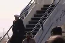 لحظه ورود رئیس جمهور به کرمانشاه