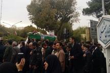 پیکر شهید نیروی انتظامی در اصفهان تشییع شد