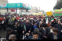 مردم ورامین در راهپیمایی22بهمن فریاد زنده باد ایران سر دادند