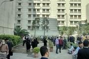 تخلیه ساختمان وزارت نفت بر اثر دود گرفتگی+ عکس