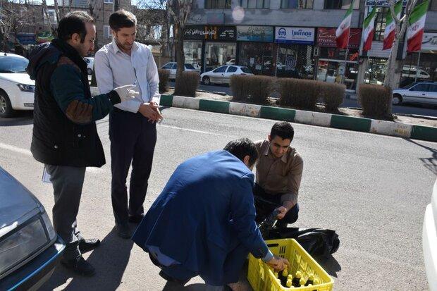 توزیع مواد ضدعفونی کننده رایگان در سطح شهر زنجان