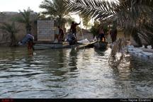 آبگرفتگی روستای سیل زده حدبه خنافره شادگان از دریچه دوربین ایلنا