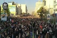 سیل جمعیت عزاداران تهرانی