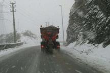 بارش برف شهرستان آوج را فرا گرفت