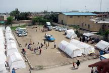 کاهش تعداد اردوگاه های اسکان اضطراری خوزستان در پی فروکش کردن سیلاب