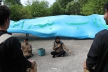 اجرای نمایش مفهومی برای تالاب انزلی در روز پرندگان مهاجر