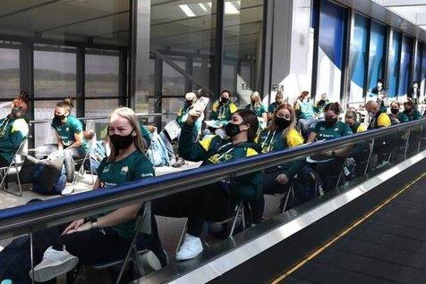 ورود نخستین گروه ورزشکاران المپیکی به توکیو